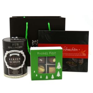 Weihnachten-Set diverse Genüsse in der Tragetasche - Klein No. 01 | Set/Mix | Set kleine Genusstasche | 250g