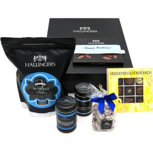 Geschenk-Set in edler Box (1.123g) - Happy Birthday Blue (Genussbox)