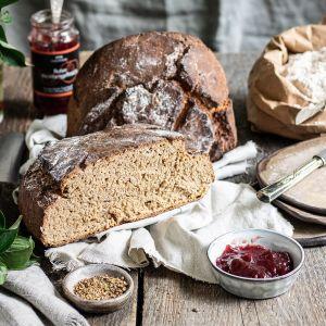 Natürliche Brotbackmischung Gärkorb-Set (1000g) - Set Bauernbrotmix, Backmix und Gärkorb (Bundle)