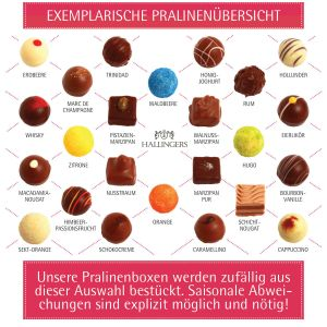 24 Pralinen-Adventskalender, mit/ohne Alkohol (300g) - Little Things (Advents-Karton)
